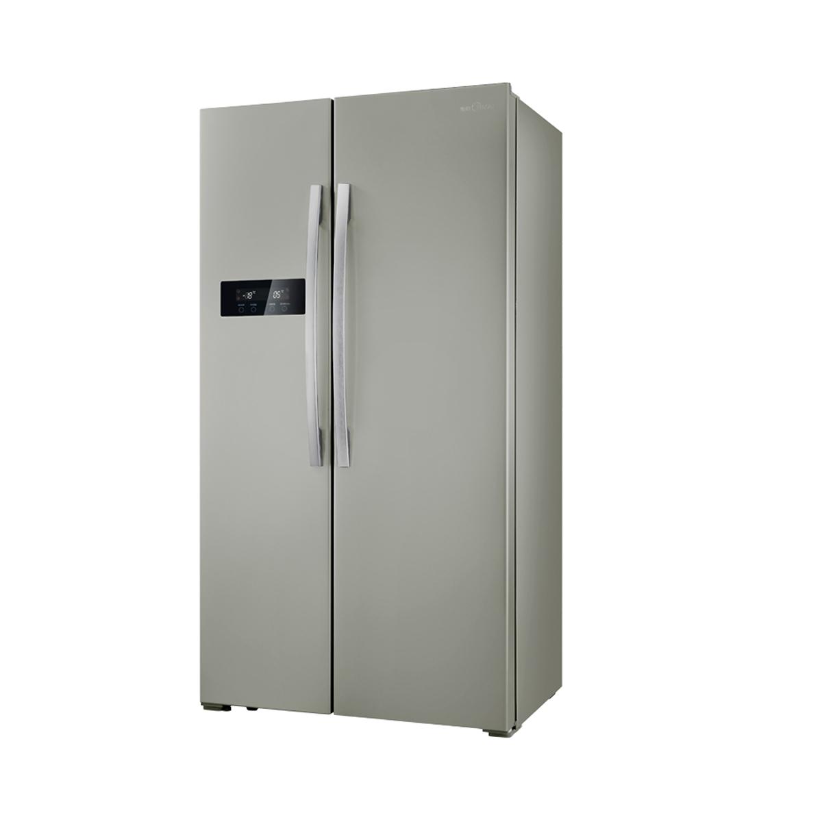 【美的md冰箱bcd-516wkm(e)泰坦银】美的冰箱,md冰箱