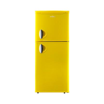 Midea/美的冰箱 112L活力橙 复古双门节能小冰箱 BCD-112CM(E)