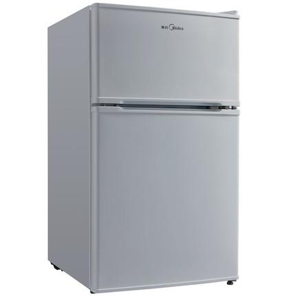 Midea/美的双门冰箱 88升 冷藏又冷冻 节能低噪 BCD-88CM(浅灰)