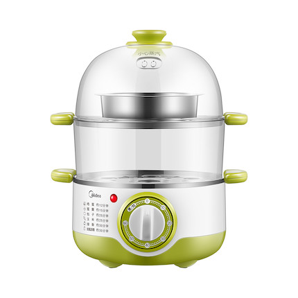 电蒸锅 定时烹饪 不锈钢双层 预约蒸蛋器 MZ-SYH18-2A