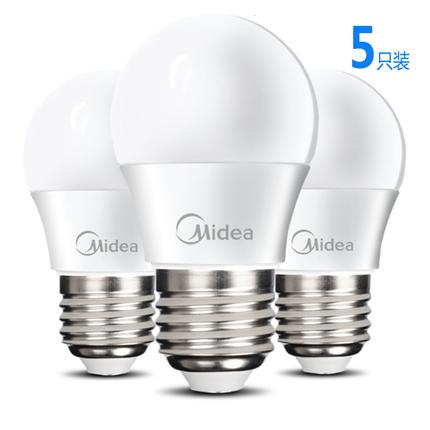 五只装 12W球泡灯泡 白光5700K