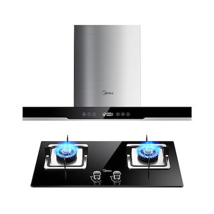 【送小烤箱】【蒸汽洗】烟灶套装 智能感温开机 DT570R+Q360B