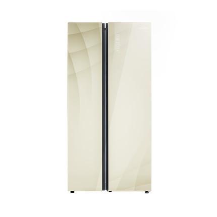 【钢化玻璃面板】美的冰箱 529L变频风冷智能冰箱 对开门 BCD-529WKGPZM(E)