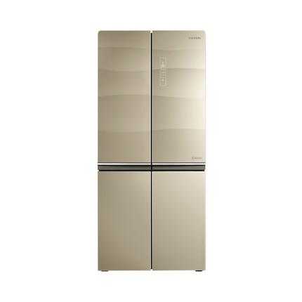 美的冰箱 530升玻璃面板 十字对开 四门三温区 超气态除菌 BCD-530WGPZV格调金