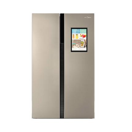 Midea/美的冰箱 wifi智能大屏幕 对开门 风冷无霜 BCD-533TH1芙蓉金
