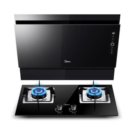 【送小烤箱】【蒸汽洗】烟灶套装 20m³吸力 WiFi智能 TJ8055+Q360B