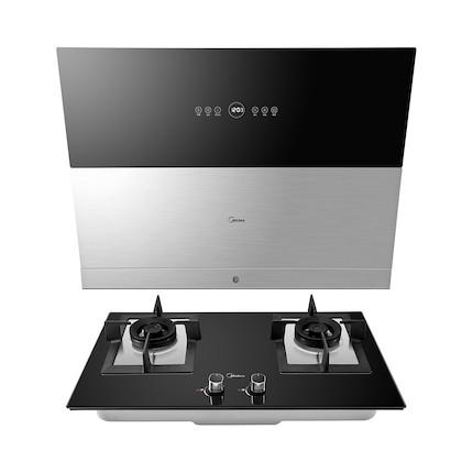 【送消毒柜】【蒸汽洗】烟灶套装 天幕烟机+烈火燃气灶 DJ750R+Q780B