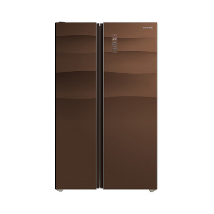 Midea/美的冰箱  615L 智能变频 双系统 BCD-615WKGPZV 格调咖