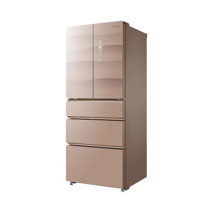 Midea/美的冰箱 416升 五门四温 变频智能 BCD-416WGPZV 玫瑰金