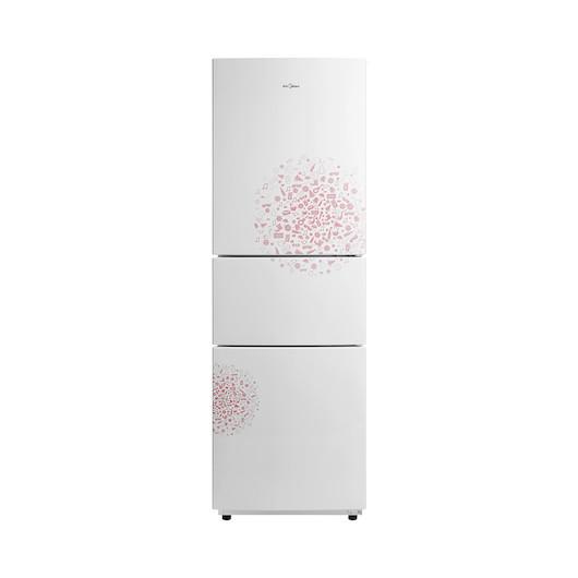 Midea/美的冰箱 210升 静音节能 三门三温区 BCD-210TM(E)妙趣白