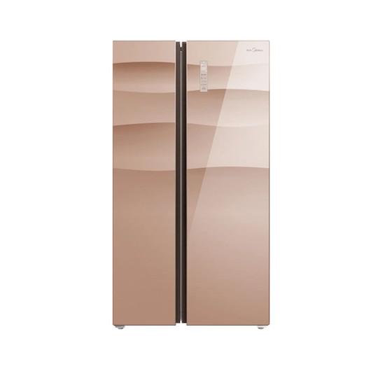 美的冰箱 540升双变频节能 智能对开双门电冰箱BCD-540WKGPZM玫瑰金