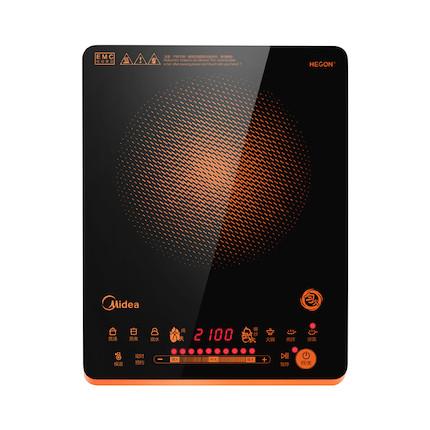 【时尚橙】电磁炉 匀火滑控 十档火力调节 隐藏式散热风机C21-WH2126