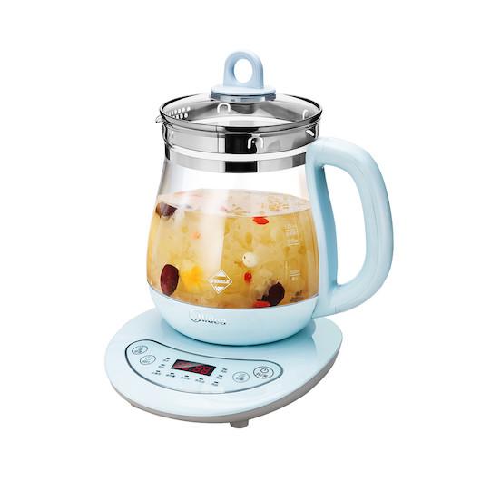 养生壶 1.5L容量 触控面板 9大功能 多段保温 配茶篮 淡蓝 WGE1506b
