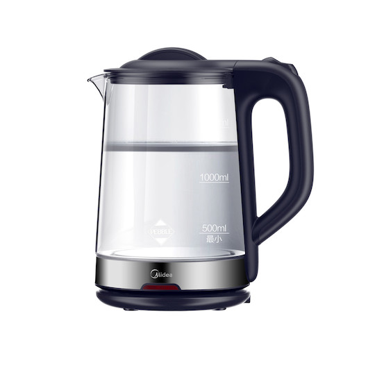 【简约款】电水壶 1.7L 高绷硅玻璃 可视化设计 急速沸腾 MK-GJ1702