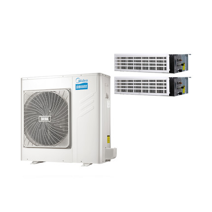 【0元安装】美的 一拖二变频一级能效 多联风管机 3匹 家用中央空调 MDS-H80W(E1)