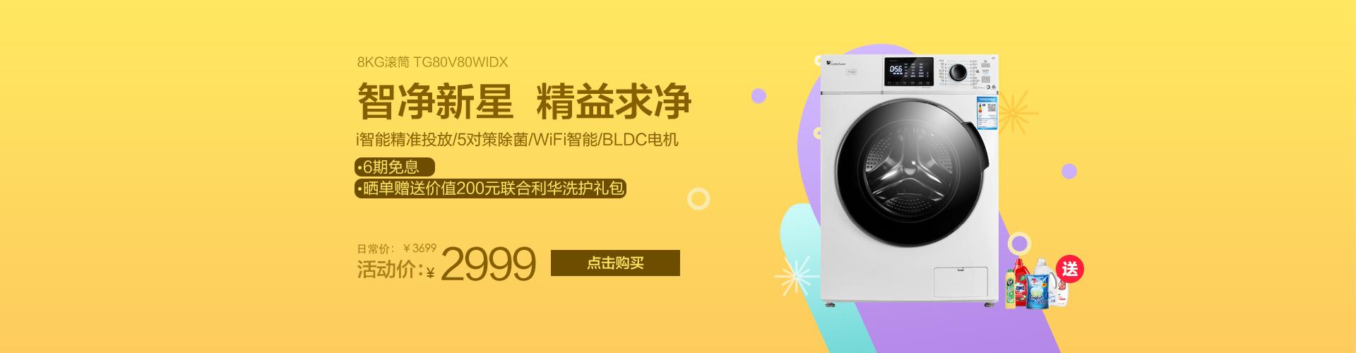 8公斤变频滚筒洗衣机 TG80V80WIDX