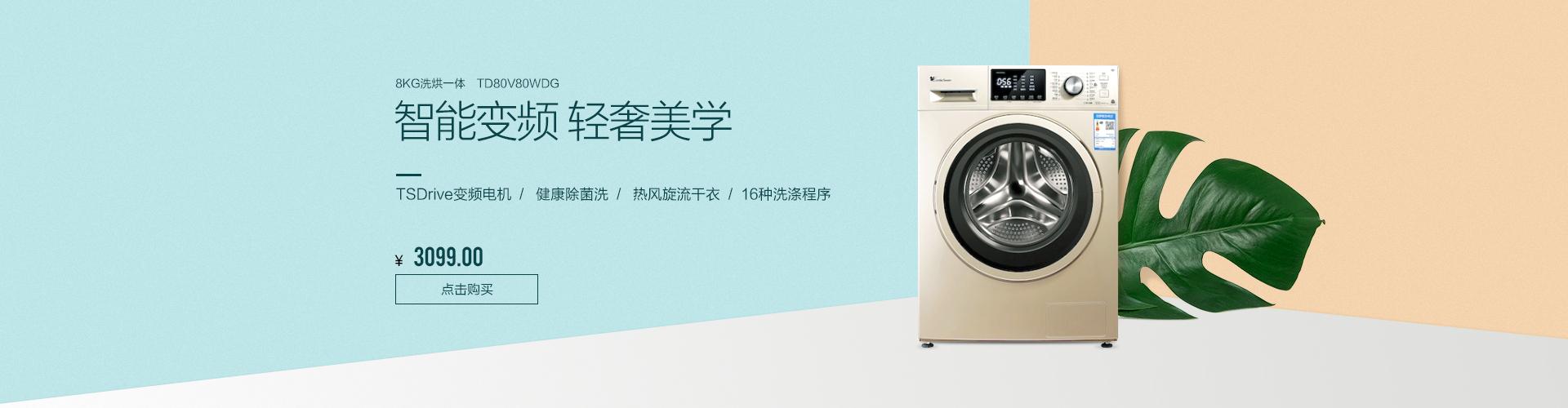 8公斤智能洗烘一体机 TD80V80WDG