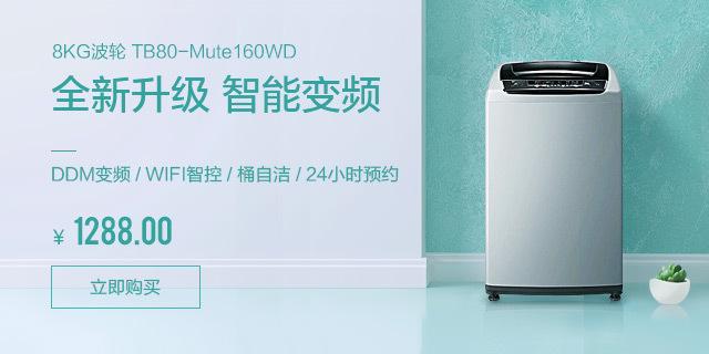 8公斤智能波轮洗衣机 TB80-Mute160WD