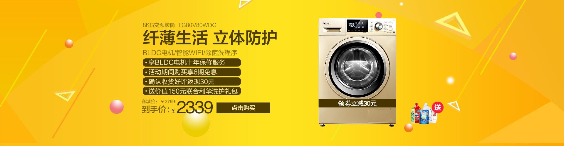 8公斤变频滚筒洗衣机 TG80V80WDG